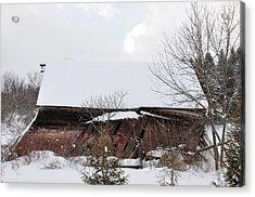 Collapsing Barn Near Saratoga Battlefield Acrylic Print