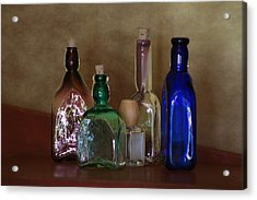 Collection Of Vintage Bottles Photograph Acrylic Print