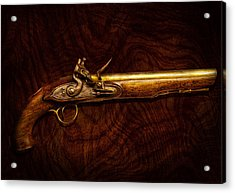 Collector - Gun - Flintlock Pistol  Acrylic Print by Mike Savad