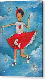Colleen Dancing In Clouds Acrylic Print by Ricky Sencion