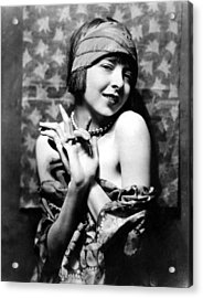 Colleen Moore, Around 1927 Acrylic Print by Everett