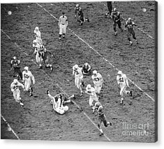 College Football Game From Above Acrylic Print by H. Armstrong Roberts/ClassicStock