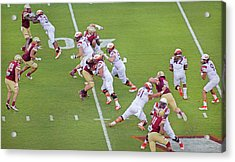 College Football Vt And Boston College Acrylic Print