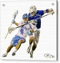 College Lacrosse 21 Acrylic Print by Scott Melby