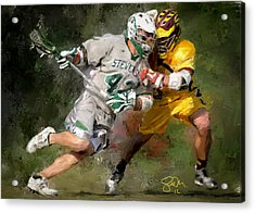 College Lacrosse 8 Acrylic Print by Scott Melby