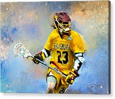 College Lacrosse 9 Acrylic Print by Scott Melby