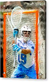 College Lacrosse Goalie Acrylic Print by Scott Melby