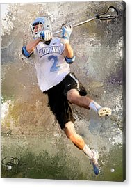 College Lacrosse Shot 2 Acrylic Print by Scott Melby