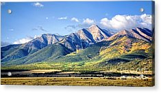 Acrylic Print featuring the photograph Collegiate Range by Scott Kemper