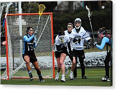 Collegiate Women's Lacrosse Acrylic Print by Mike Martin