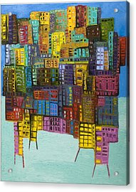 Collide Acrylic Print by Maria Curcic