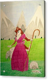 Collie Bo Peep Acrylic Print by Wendy Coulson