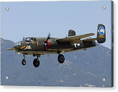 Collings Foundation North American B-25j Mitchell Tondelayo Acrylic Print by Brian Lockett
