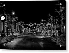 Collingswood Christmas Acrylic Print by Shawn Colborn
