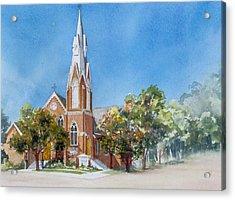 Collingwood-church Acrylic Print by Nancy Newman