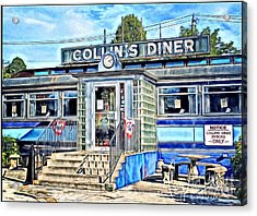 Collin's Diner New Canaan,conn Acrylic Print by MaryLee Parker
