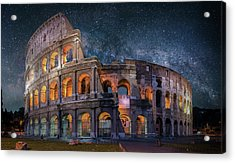 Colloseum Under The Stars Acrylic Print by Brent Shavnore