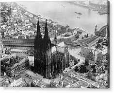 Cologne, Germany, The Cologne Cathedral Acrylic Print by Everett