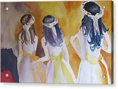 Colombian Wedding Party Two Acrylic Print