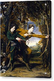 Colonel Acland And Lord Sydney The Archers Acrylic Print by Joshua Reynolds