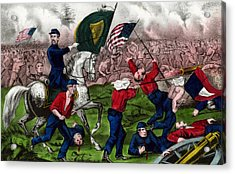 Colonel Michael Corcoran At The Battle Of Bull Run Acrylic Print by American School