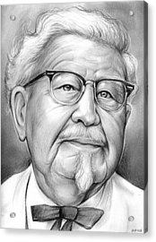 Colonel Sanders Acrylic Print