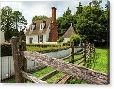 Colonial America House Acrylic Print