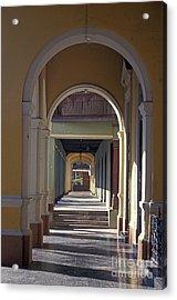Colonial Arches Granada Nicaragua Acrylic Print by John  Mitchell