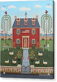 Colonial By The Sea Acrylic Print by Mary Charles
