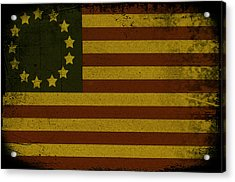 Colonial Flag Acrylic Print by Bill Cannon