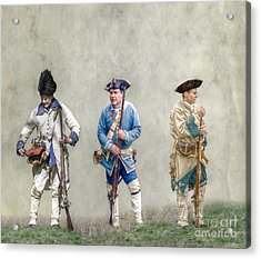Colonial French Soldier Review Acrylic Print by Randy Steele