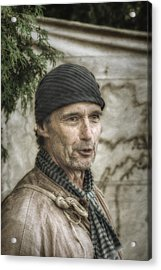 Colonial Frontiersman Portrait  Acrylic Print by Randy Steele
