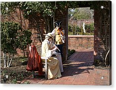 Colonial Music At Tryon Palace Acrylic Print by Rodger Whitney