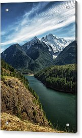 Colonial Peak Towers Over Diablo Lake Acrylic Print
