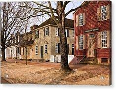 Colonial Street Scene Acrylic Print