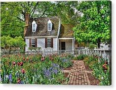 Colonial Williamsburg Flower Garden Acrylic Print