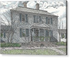 Colonial Williamsburg's Carter House Acrylic Print by Stephany Elsworth