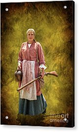 Colonial Woman With Rifle Acrylic Print