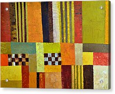 Color And Pattern Abstract Acrylic Print by Michelle Calkins