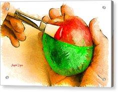 Color Apple - Da Acrylic Print by Leonardo Digenio