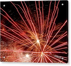 Acrylic Print featuring the photograph Color Blast Fireworks #0731 by Barbara Tristan