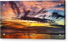 Color Burst Malibu Sunset Acrylic Print