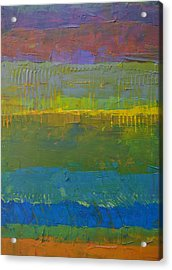 Acrylic Print featuring the painting Color Collage Five by Michelle Calkins