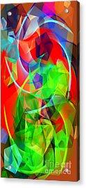 Acrylic Print featuring the digital art Color Dance 3720 by Rafael Salazar