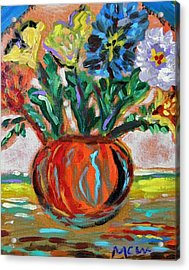 Acrylic Print featuring the painting Color Everywhere by Mary Carol Williams