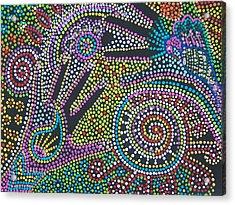 Color Fantasy Acrylic Print by Vijay Sharon Govender