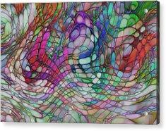 Color Flow Acrylic Print by Jack Zulli