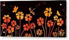 Color Game Series Orange Acrylic Print by Veronica Minozzi