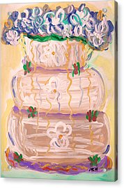 Color In A Wedding Cake Acrylic Print by Mary Carol Williams
