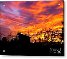 Acrylic Print featuring the photograph Color In The Sky by Donald C Morgan